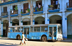 Transporte urbano, La Habana, Cuba Imágenes de archivo libres de regalías