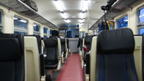 Transporte vazio de trem movente vídeos de arquivo