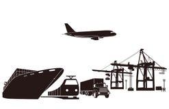 Transporte y cargamento Imagen de archivo libre de regalías