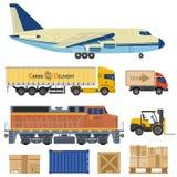 Transporte y empaquetado de cargo Imágenes de archivo libres de regalías