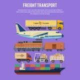 Transporte y empaquetado de cargo Fotografía de archivo libre de regalías