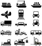 Transporte y vehículos - iconos Imagenes de archivo