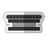 Transporter band machine icon Stock Photo