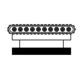 Transporter band machine icon Royalty Free Stock Photography