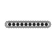 Transporter band machine icon Royalty Free Stock Image
