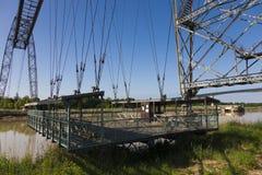 Transporter bridge crossing the Charente, Rochefort Stock Image