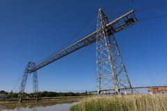 Transporter bridge crossing the Charente, Rochefort Royalty Free Stock Images