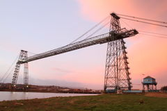 Transporter Bridge, Newport. Transporter Bridge used to cross the River Usk, Newport, the host city for the NATO summit in September 2014. The summit will see stock photo