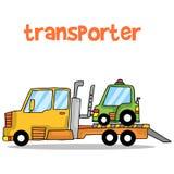 Transporter car of vector art Stock Photos