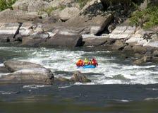 Transporter de Whitewater sur par radeau la rapide Photo libre de droits