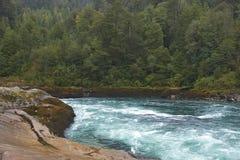 Transporter la rivière par radeau du Patagonia image libre de droits