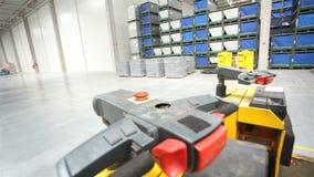 Transporter in modern storehouse stock video