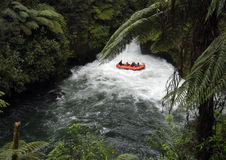 Transporter par radeau en Nouvelle Zélande Photos stock