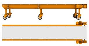 Transporter z kół, bocznych i odgórnych widokami, Zdjęcia Stock