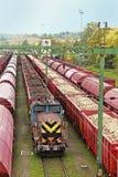Transportering på järnväg Royaltyfri Bild