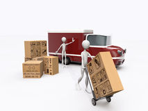 Transporters working Royalty Free Stock Images