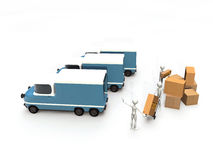 Transporters working Stock Photography