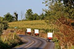 Transportes de Amish em Pensilvânia rural foto de stock