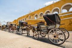 Transportes do cavalo em Izamal México Imagem de Stock Royalty Free