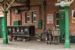 Transporteur de cercueil sur le chemin de fer Images libres de droits