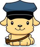 Transporteur de courrier de sourire de bande dessinée Puppy Photos libres de droits