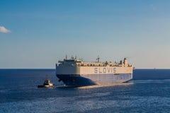 Transporteur de fret de Glovis avec la traction subite image libre de droits