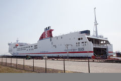 Transporteur de Stena dans le port du fourgon Hollande de hoek photo libre de droits