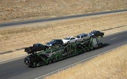 Transporteur de véhicule Photos libres de droits