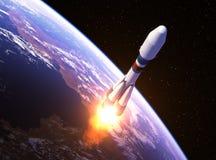 Transporteur lourd Rocket Launch Illustration Libre de Droits