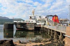 Transportez en bac l'île d'Arran au pilier Arran Ecosse de Brodick Images libres de droits