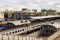 Transportez le hub de la ville de Ramenskoye dans la région de Moscou dedans Photos libres de droits