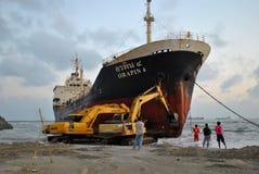 Transportez-vous avec la cargaison sur le canal de Kiel, Allemagne Photo stock