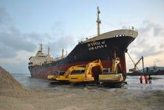 Transportez-vous avec la cargaison sur le canal de Kiel, Allemagne Photo libre de droits