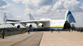 Transportflugzeug Antonows An-225 Lizenzfreie Stockfotos