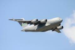 Transportflugzeug C-17 Stockfotografie