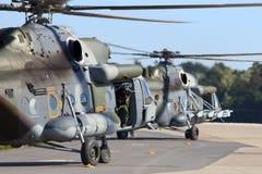 Transporthelikoptrar för tjeck Mi-171 Royaltyfri Bild