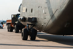 Transporthubschrauber Halos Mil MI-26 schwerer stockfoto
