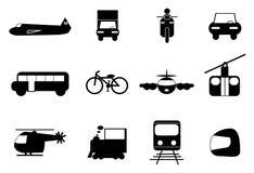 Transportieren Sie Ikonen-Set Lizenzfreie Stockbilder