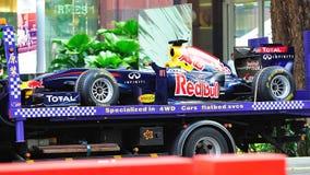 Transportieren von Red Bull, das F1 RB6 Auto läuft Lizenzfreies Stockbild