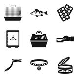 Transporting animal icons set, simple style. Transporting animal icons set. Simple set of 9 transporting animal vector icons for web isolated on white background Royalty Free Stock Images