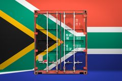 The transporting container with the national flag royalty free illustration