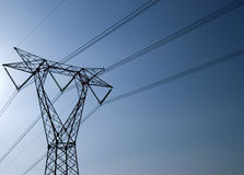 Transporting Electricity Royalty Free Stock Photos