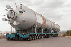 Transporting mega installation to refinery Royalty Free Stock Image