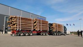 Transportista de la madera de FH16 750 8X4 WoodPro Imagenes de archivo