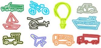 Transportmiddelen Stock Afbeeldingen