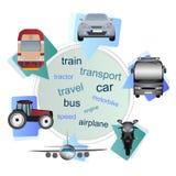 Transportmiddelen in de bellen Royalty-vrije Stock Foto