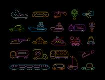 Transportneonvektorikonen lizenzfreie abbildung