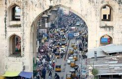 Transportplats i Hyderabad, Indien arkivbild