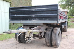 Transports cart. Cart used for goods transportation by a big truck Stock Photos