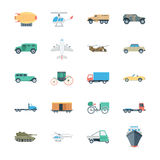 Transports Colored Vector Icons 5 Stock Photos